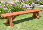 A frame timber garden bench