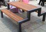 steel frame tables that can be used to support a variety of timber surfaces