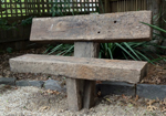 Anchored timber seats for the garden