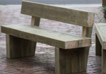 Timber seats for parks and gardens
