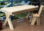 Crossed Leg timber Tables