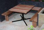 Cafe Furniture outdoor central pole table