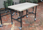 Cafe Furniture outdoor pipe table