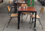 light weight commercial cafe tables Melbourne