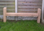 garden bench with high sides makes a perfect timber seat with arm rests