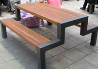 steel frame cafe picnic table 'A' profile