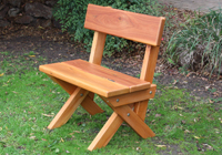 conventional timber garden seat