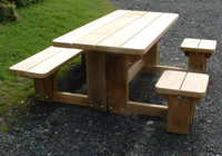 One of our solid park tables Melbourne wheelchair versions