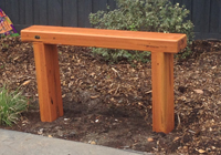 ironbark dressed sleeper bench