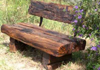 rustic park tables and benches seats from recycled railway sleepers