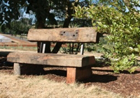 park tables and benches Melbourne rustic seats for the outdoors