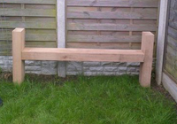 outdoor timber park bench with sides
