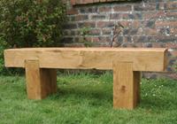 benches made from sleepers can be any width