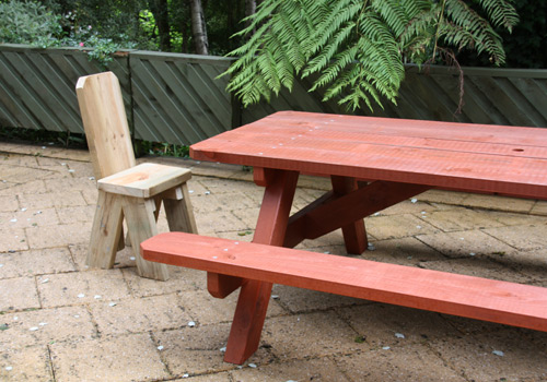 picnic table and matching picnic table chair