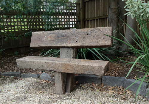 Solid Rustic Sleeper Garden Seat Made From Recycled