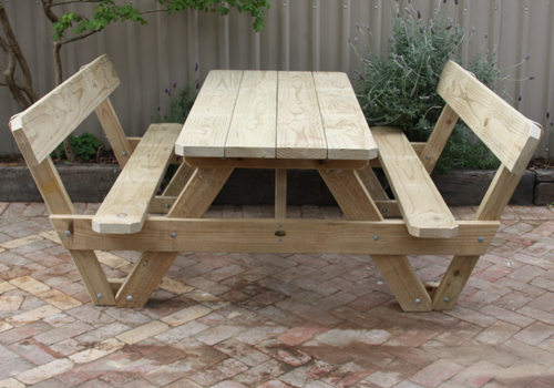 Gallery TK Tables Manufacture Picnic Tables Garden Furniture And - Picnic table with backrest
