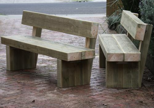 Treated Pine Sleeper Bench Seat