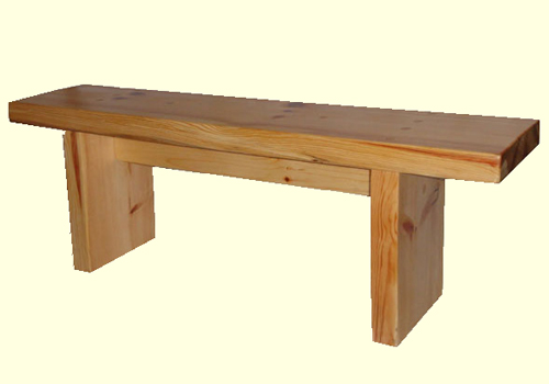 simple solid wooden bench