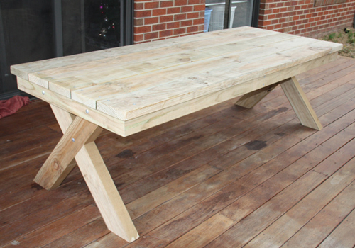 Solid Treated Pine Timber Table And Chairs