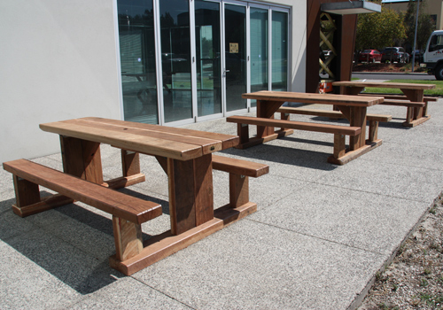 Solid Timber Outdoor Cafe Tables And Furniture Made