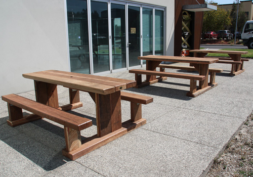 Heavy Duty Wooden Timber Outdoor Cafe Tables Melbourne