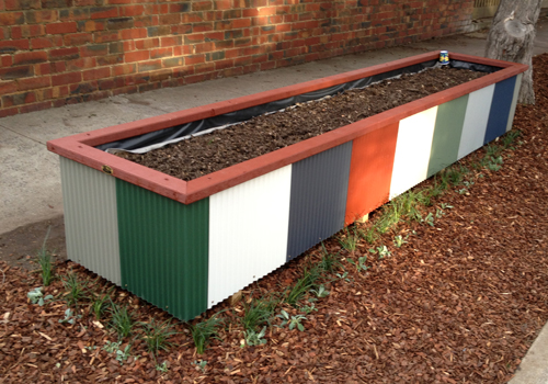 Colorbond planter boxes