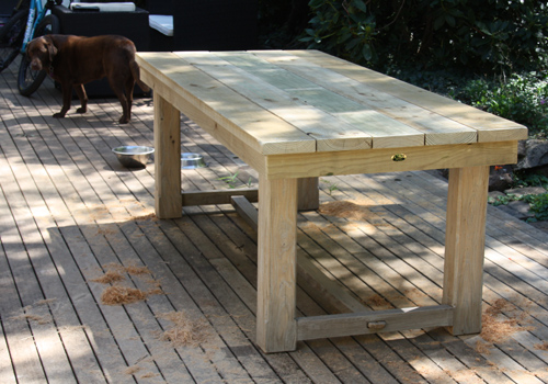 - Solid Treated Pine Timber Table And Chairs