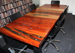 Reclained sleeper boardroom timber table