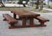 Solid Sleeper Picnic Tables