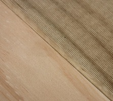 the smooth finish of dressed treated pine timber