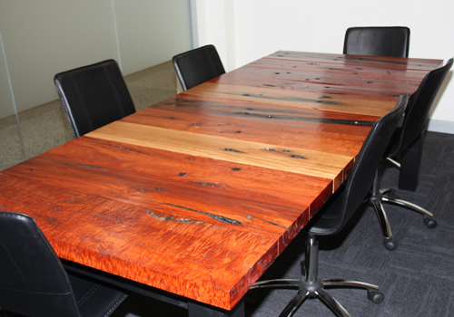 Australian red gum reclaimed timber boardroom tables