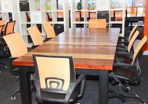 Rustic Solid Timber Boardroom Tables Made From Reclaimed